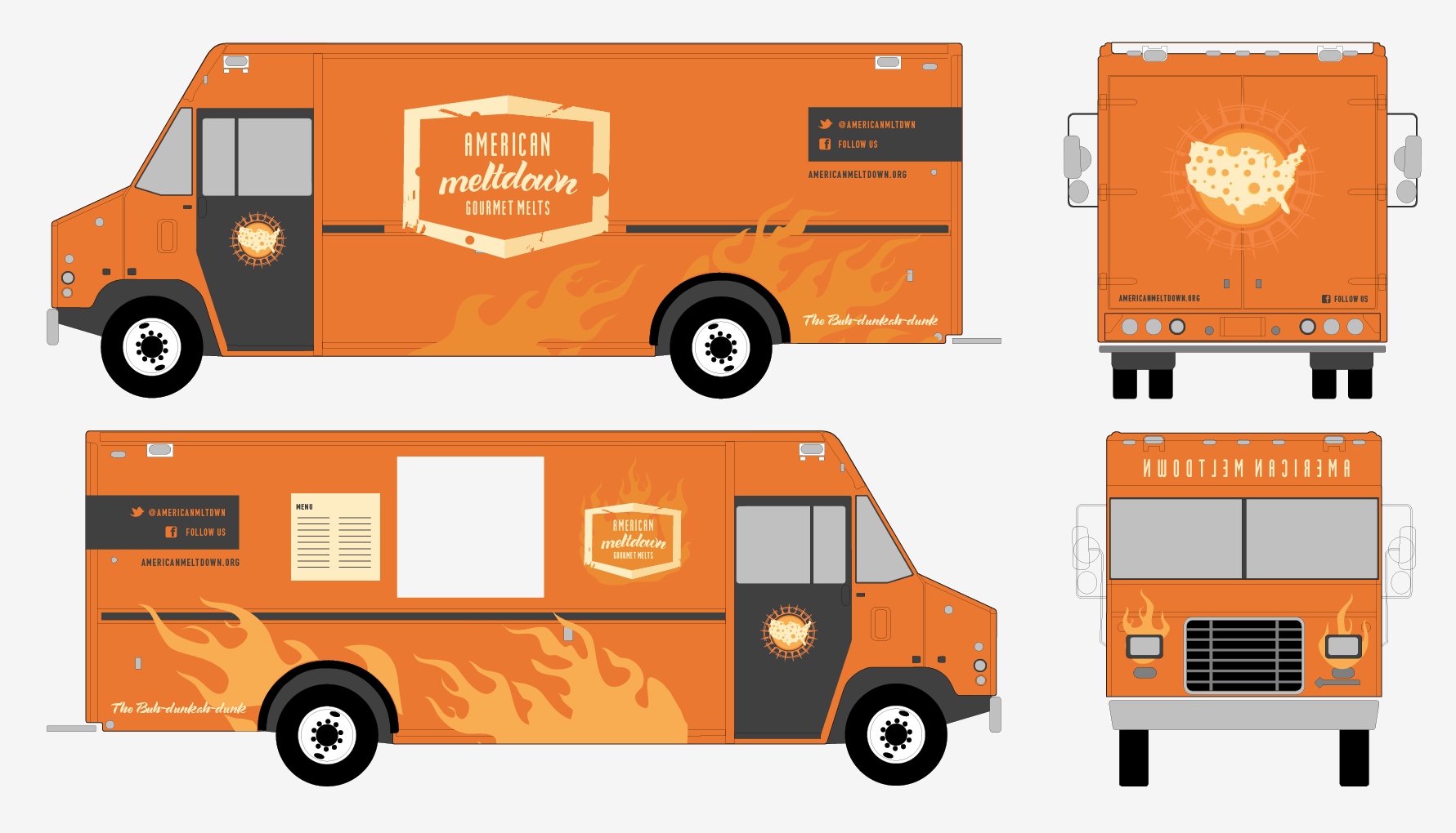 Blank food truck logo templates pictures to pin on for Truck wrap templates